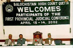 Chief Justice of Balochistan First Provincial judicial Conference Quetta, Pakistan, 2002
