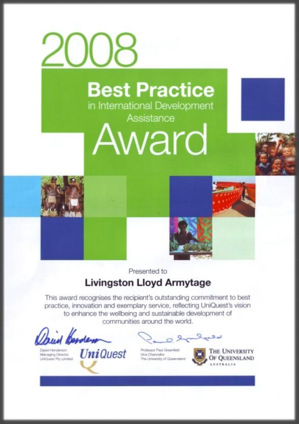 Uniquest Award Framed